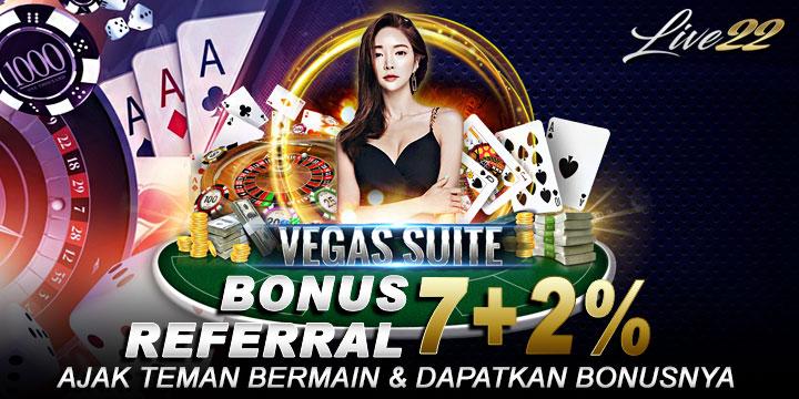 bonus referral situs judi game slot live22 indonesia